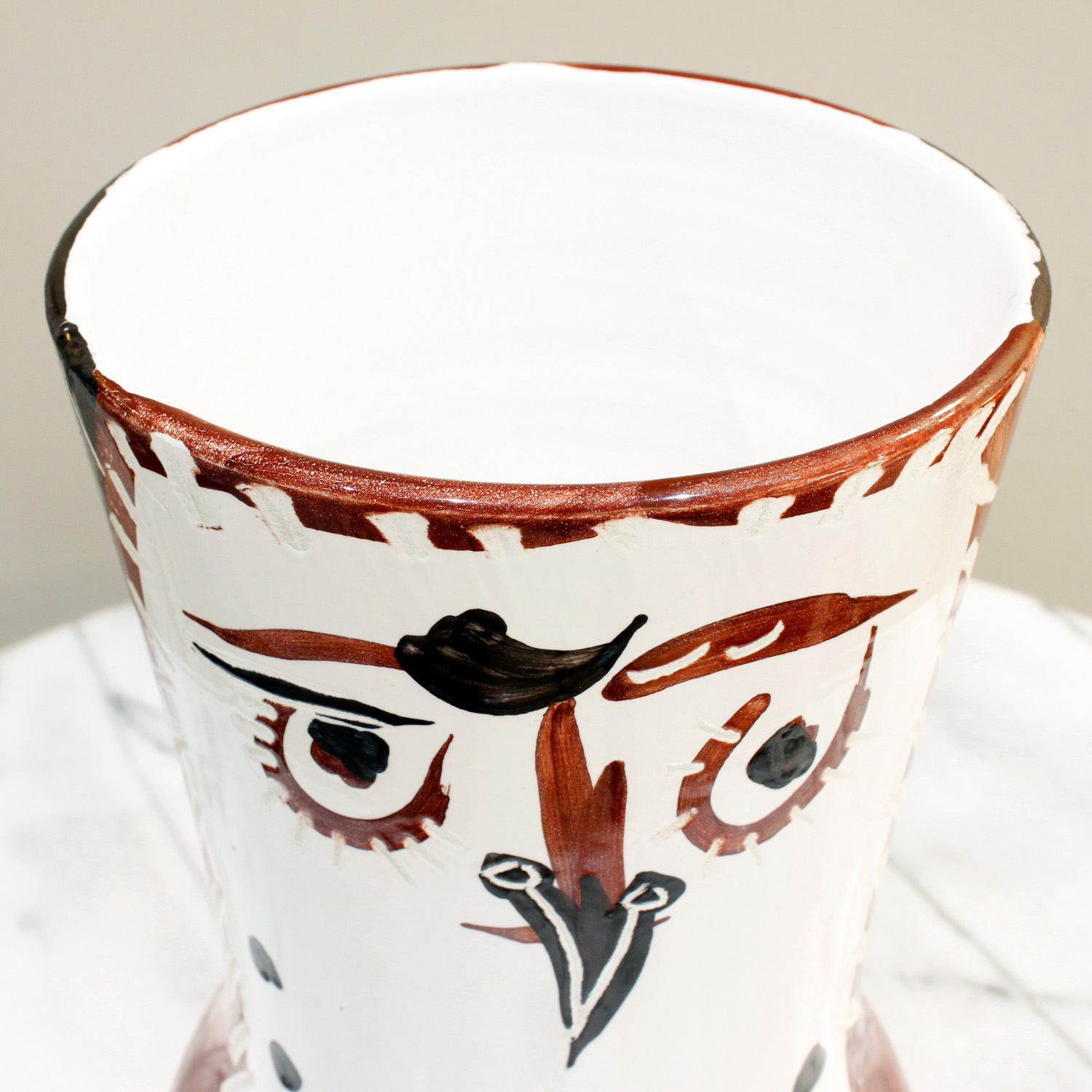 Picasso 200 lrg wood owl ceramic42 top.jpg
