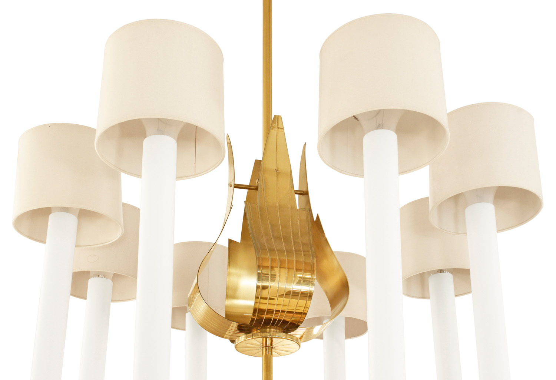Parzinger 150 lrg 8 arm brass chandelier227 top.jpg