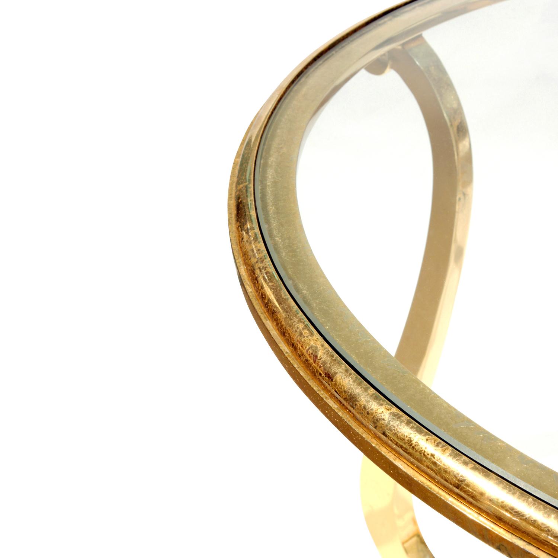 Paul M Jones 75 round brass+glass endtable171 leg dtl.jpg