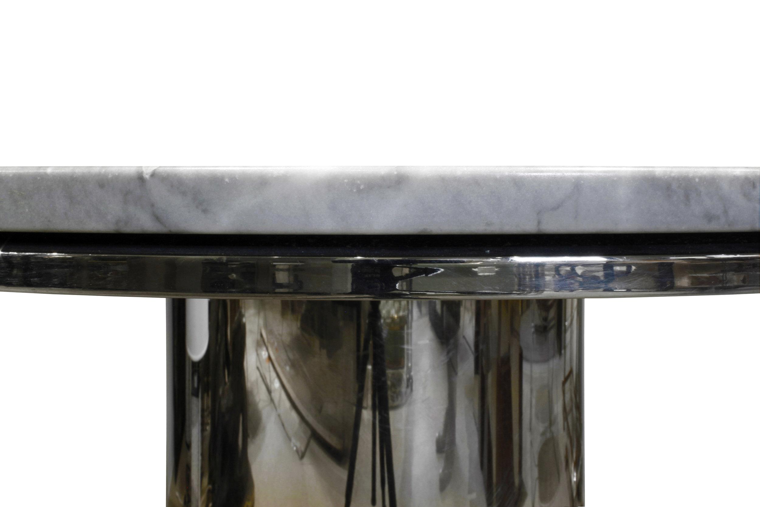 Brueton 95 polished ss+marble table13 dtl3.JPG