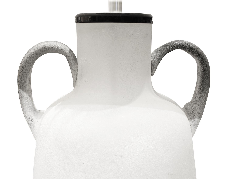 Seguso 45 white scavo urn tablelamp246 top.JPG