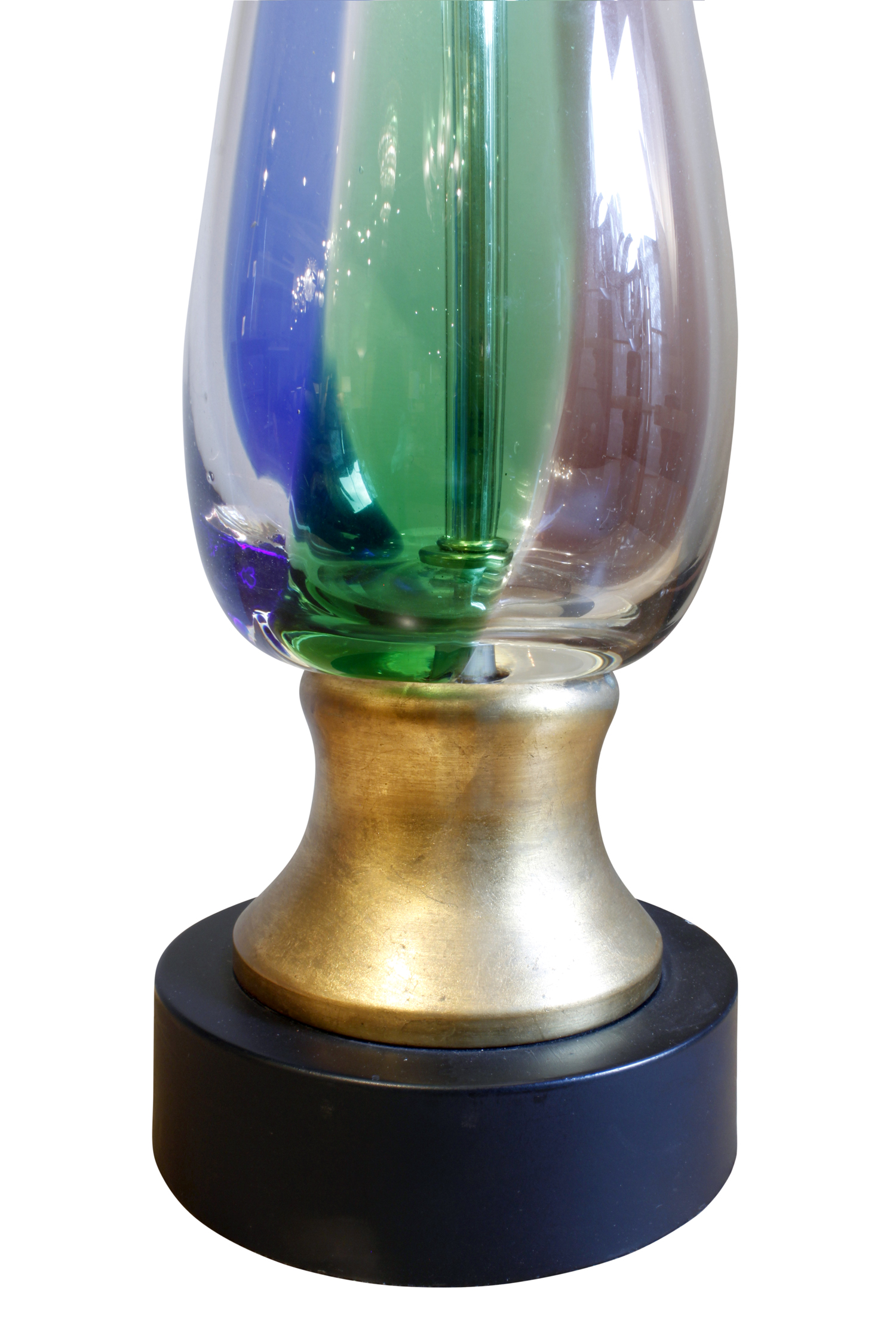 Murano pr red blue green clear table lamps pair bse2.jpg