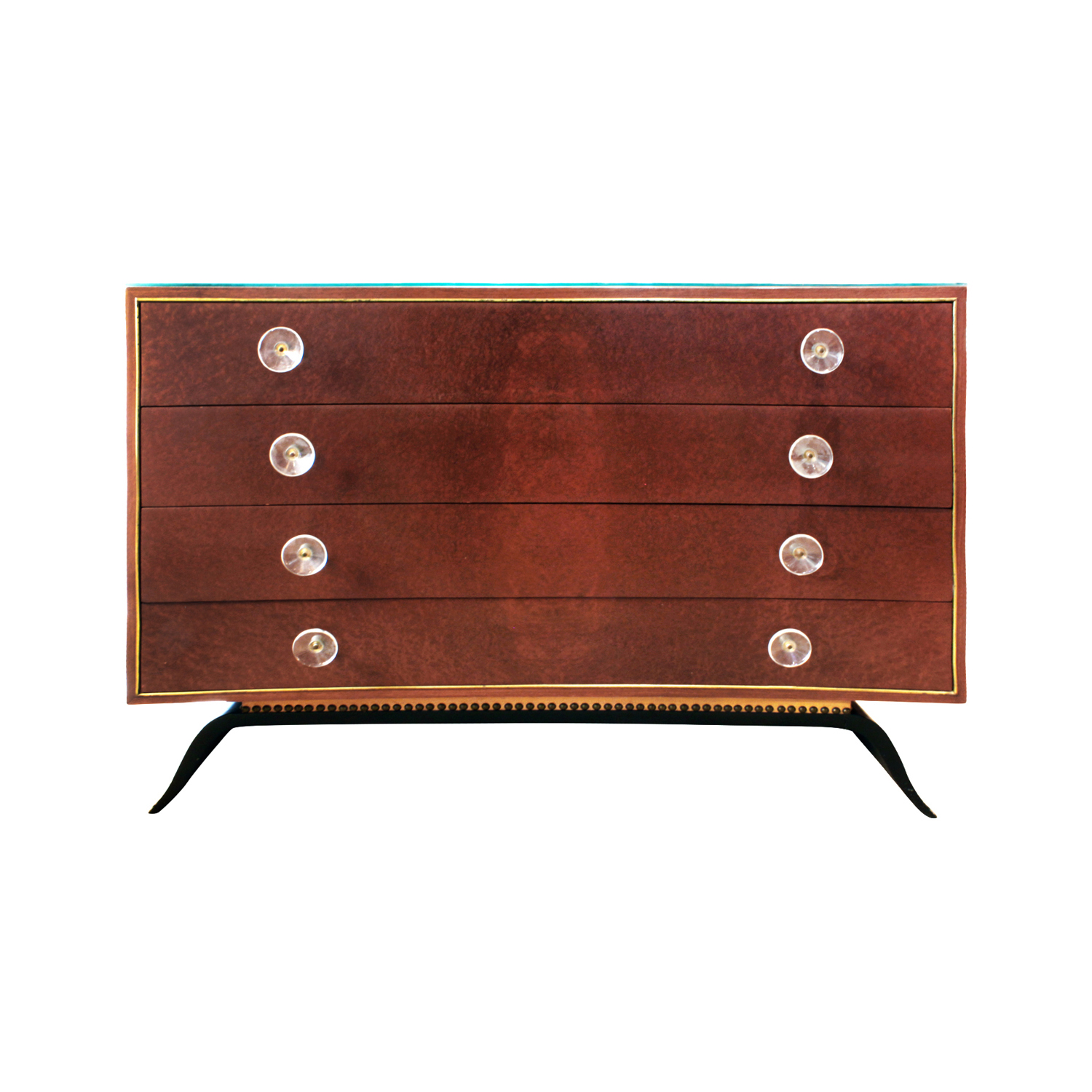 Rohde 120 rosewood+burl+lucite pul chestofdrawers99 front.JPG
