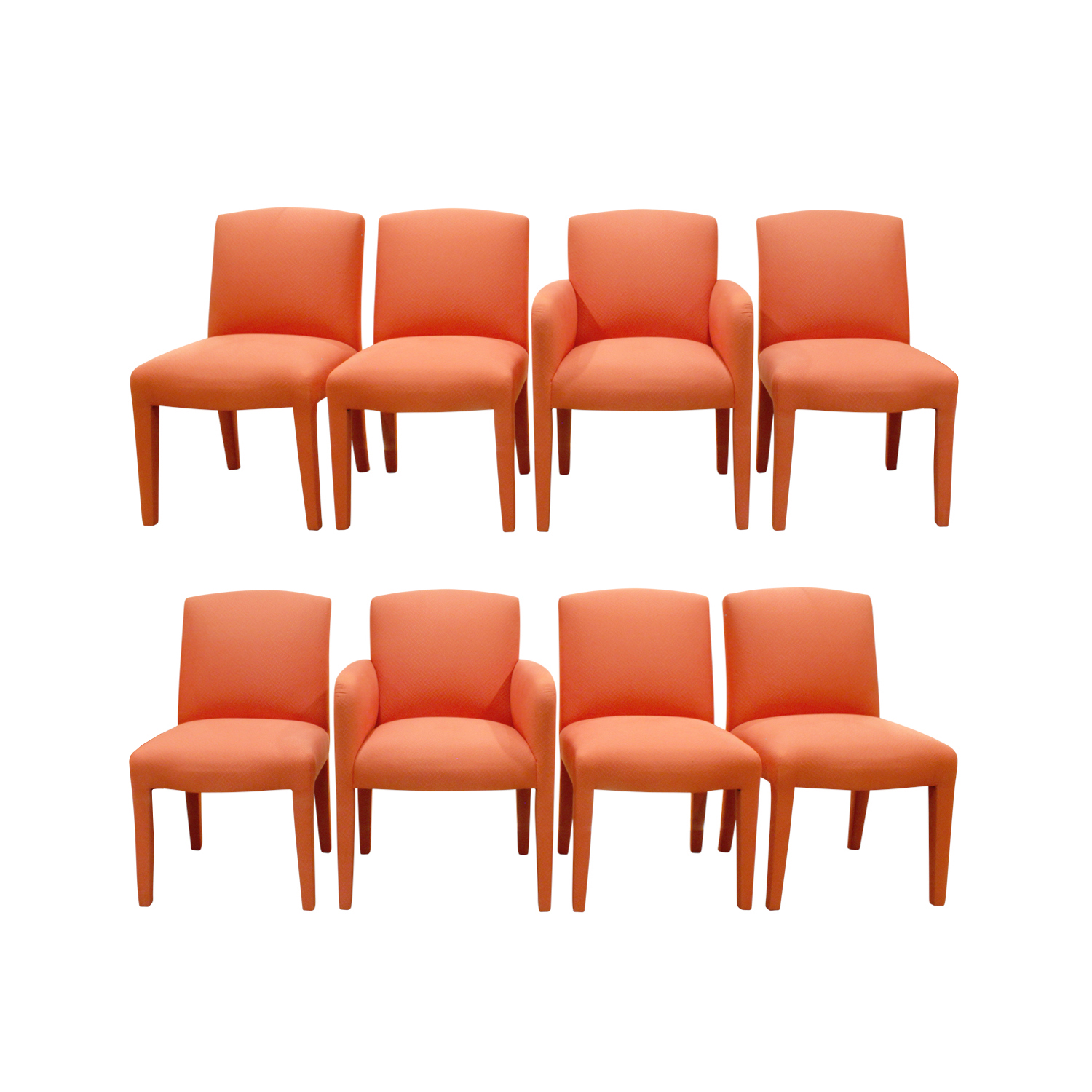 Donghia 120 set of 10 salmon pink diningchairs185 8 main.jpg