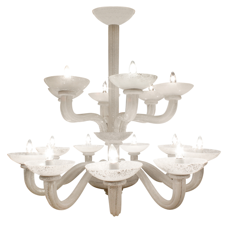Springer 250 Seguso 2-tier scavo chandelier249 main.jpg