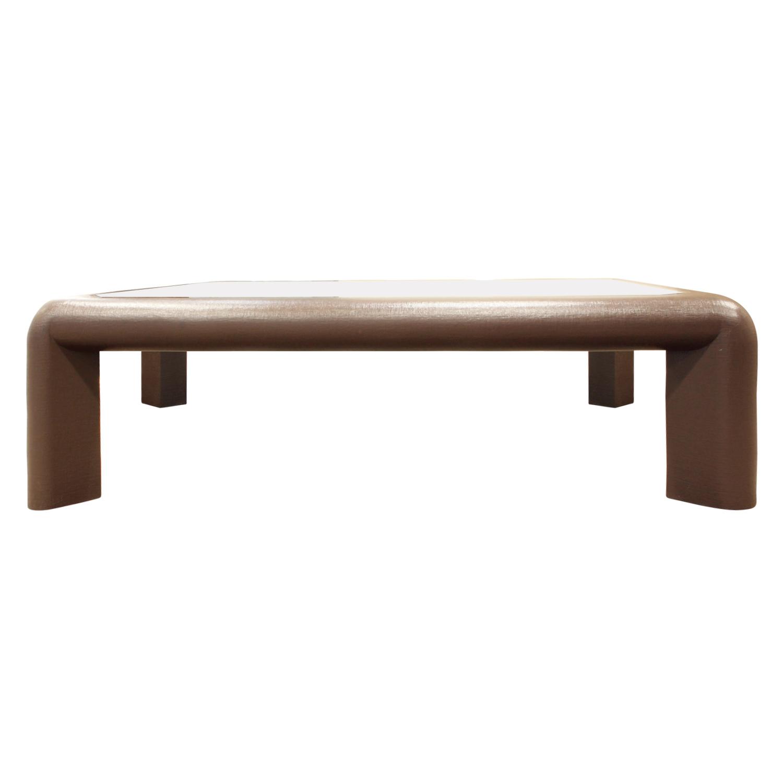 Springer 120 Mark ll linen+brass coffeetable435 frnt.JPG