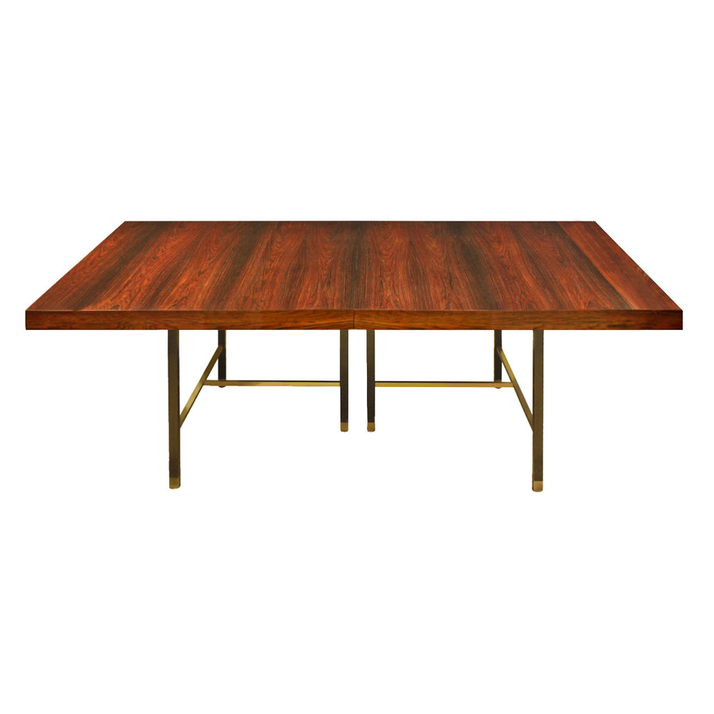 Harvey Probber Dining Table In Brazilian Rosewood 1950s Signed