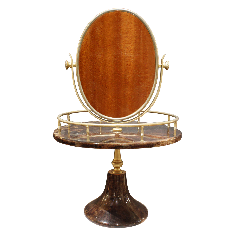 Tura 55 vanity drk goatskin+brass mirror236 back.jpg