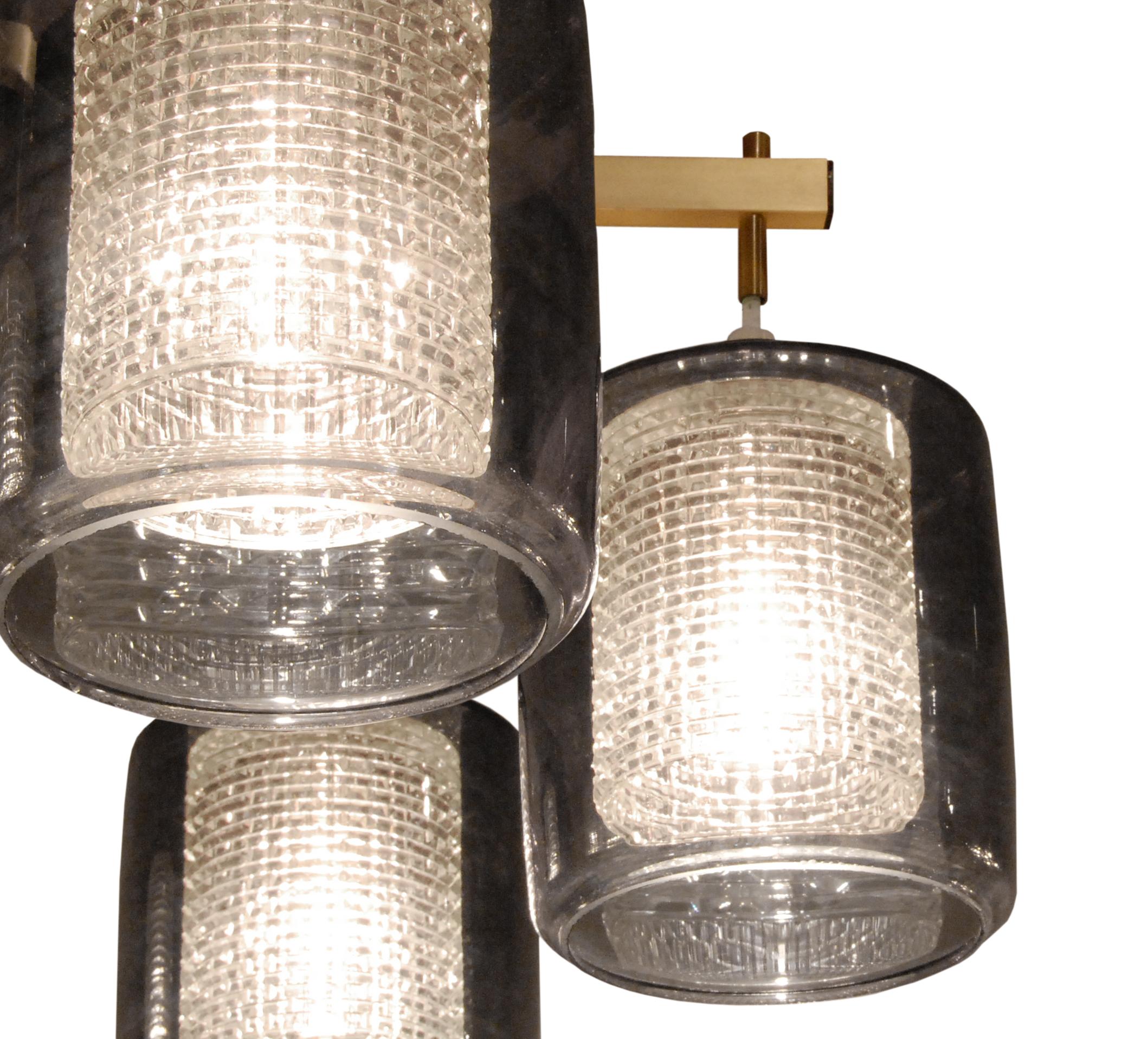 50's 45 Lrg rnd 6 glass shadesbrass chandelier157 shade detail hires.jpg
