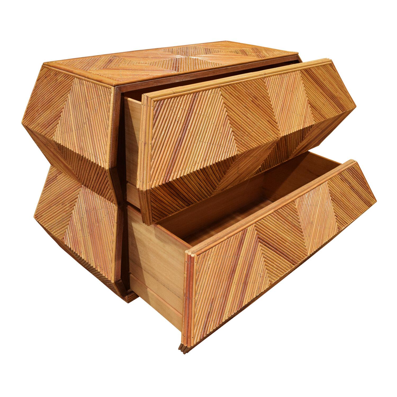 70s 120 trapezoidal bamboo chestofdrawers163 opn drwrs.jpg