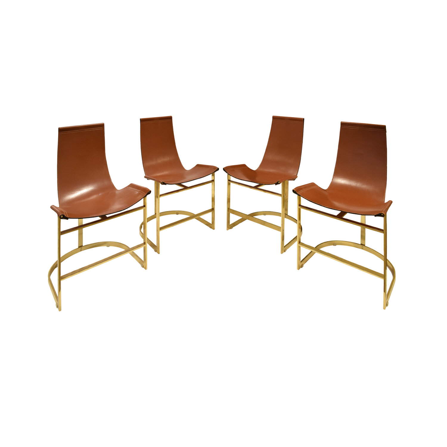 70s 75 brass with leather sling dinningchairs197 main.jpg
