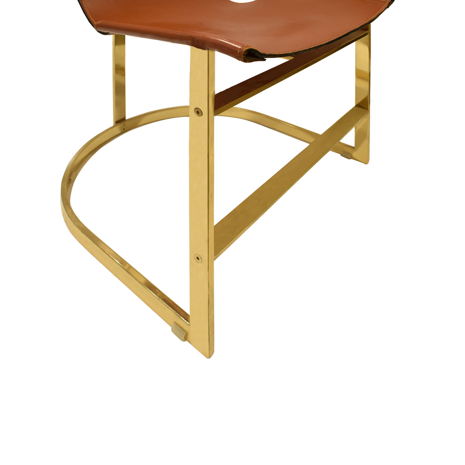 70s 75 brass with leather sling dinningchairs197 dtl bse.jpg