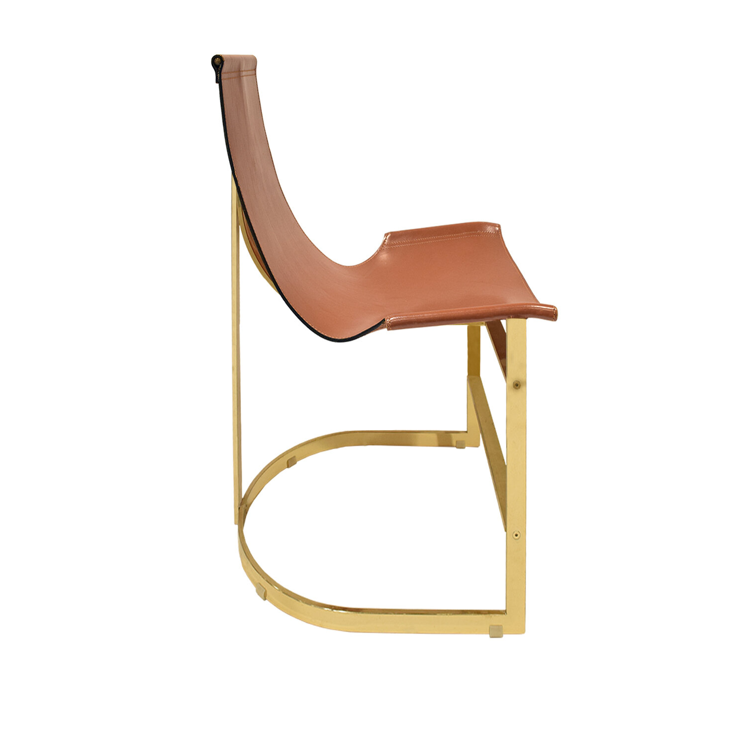 70s 75 brass with leather sling dinningchairs197 side.jpg
