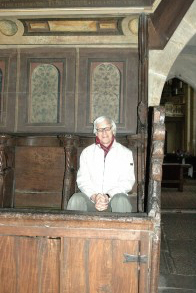 Matthew Fox visiting Meister Eckhart's choir stall