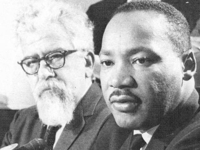Rabbi Abraham Joshua Heschel and the Rev. Martin Luther King, Jr.