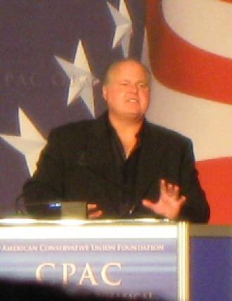 Rush Limbaugh speaks at the American Conservative Union Foundation. Photo by  Jeick  at  English Wikipedia .