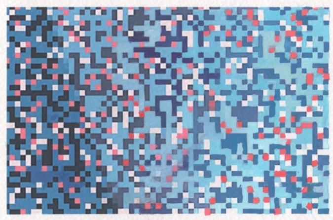 Pixel Painting, 2016.  Ryan Johnson.