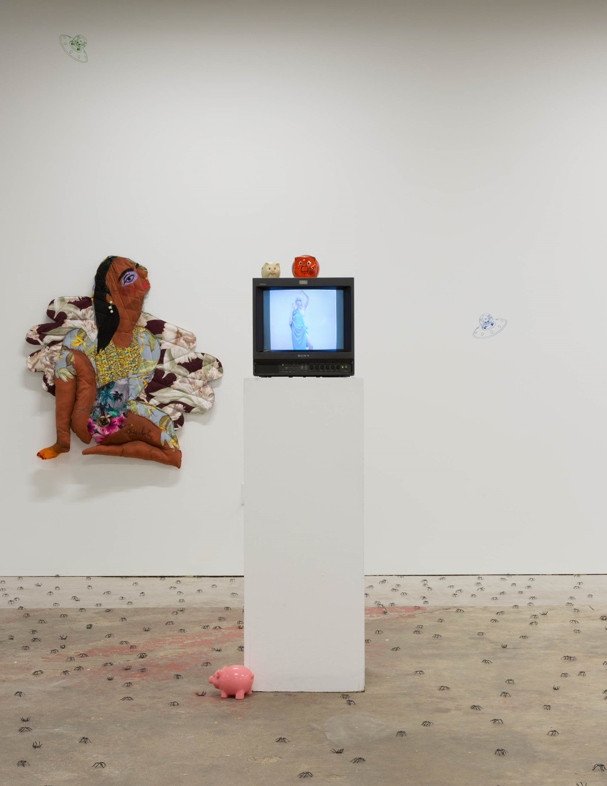 Installation shot: Mallrats, Et al, etc. with 100% Gallery, Minnesota Street Project, San Francisco, CA, August 27 – September 24, 2016. Image courtesy of 100% Gallery.