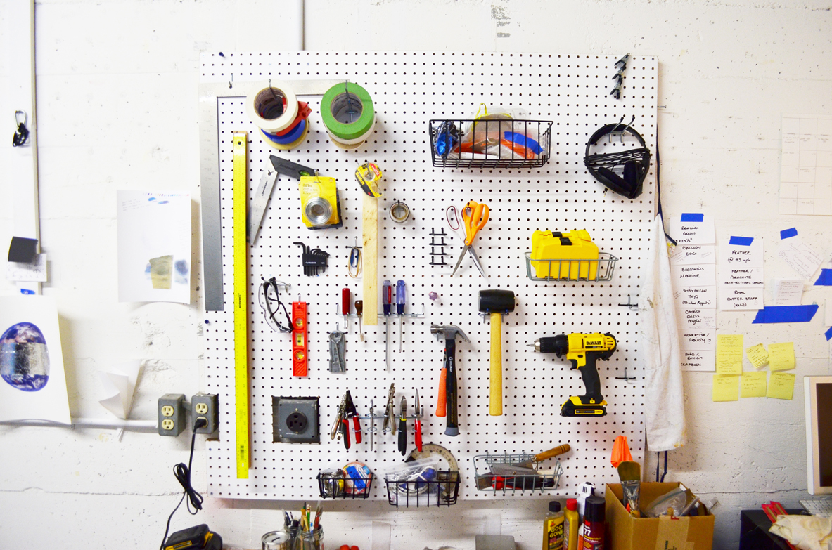 Tools in the studio of Joanne Easton , 2016. Photograph: Christopher Squier.
