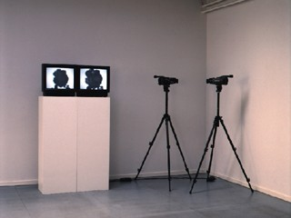 Dieter Kiessling,  Two Cameras , 1998, Video Installation. Image accessed via Media Art Net.  http://www.medienkunstnetz.de/works/two-cameras/ .