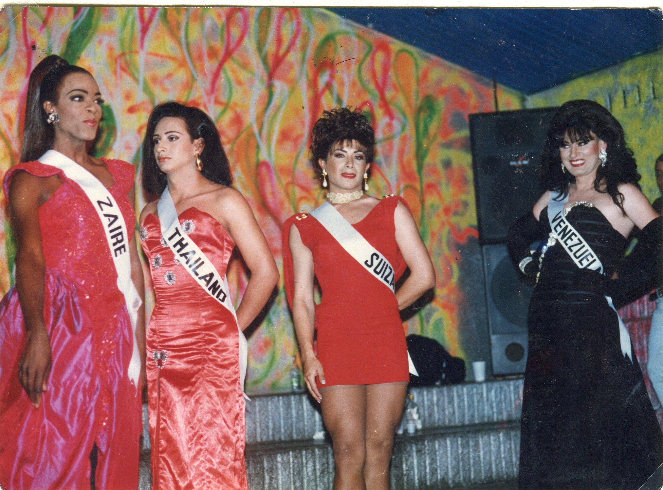 International Bambuco Trans Beauty Pageant. Courtesy of the Akrhé Foundation. From Halim Badawi's essay, Pink memories: The Archives of LGBTQ History
