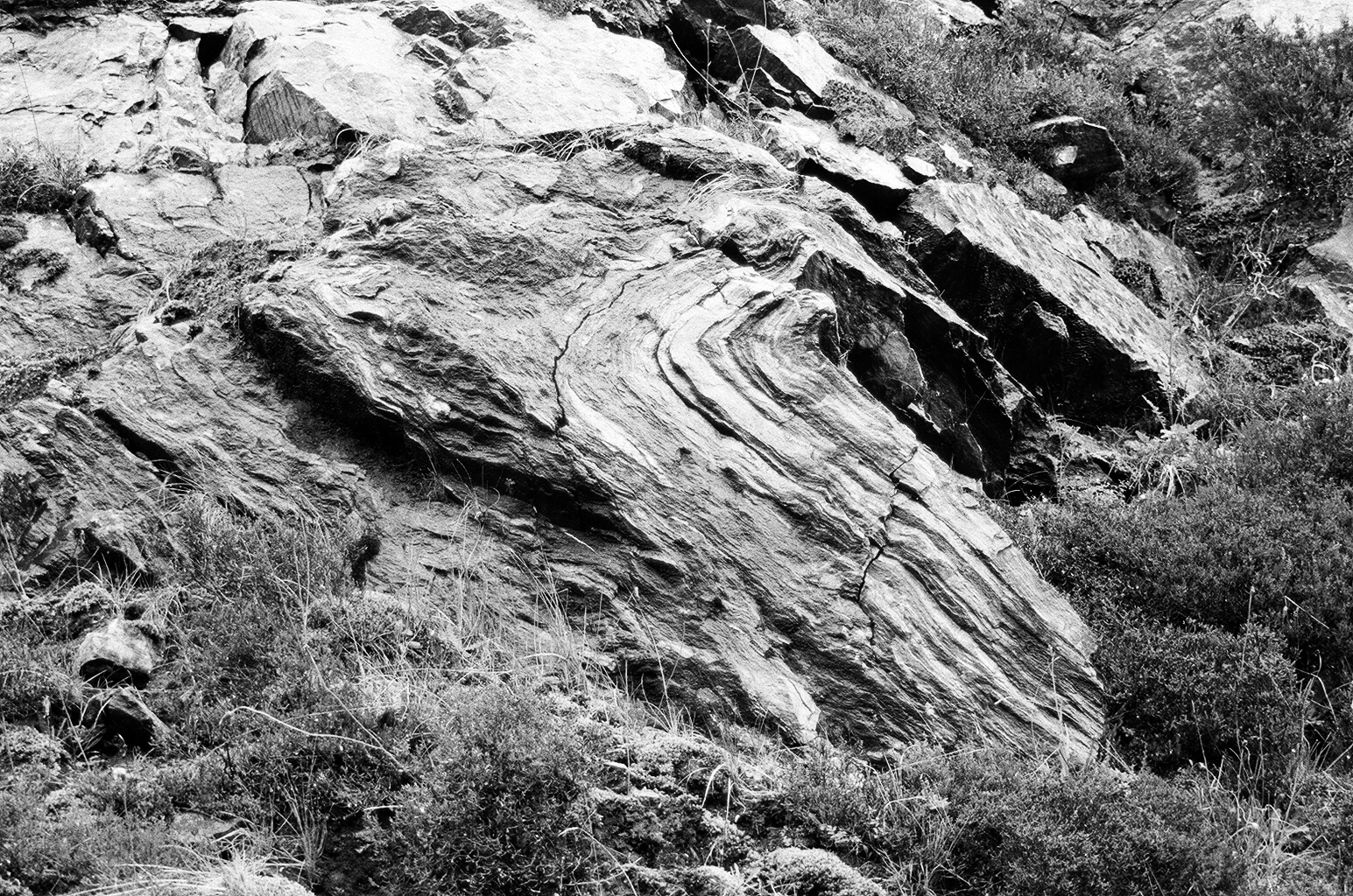 Kylie white,  Folded Lewisian Gneiss (up to 3 billion years old), near Moine Thrust Zone , Glen Elg - Arnisdale, 2017.Image Courtesy of the Artist