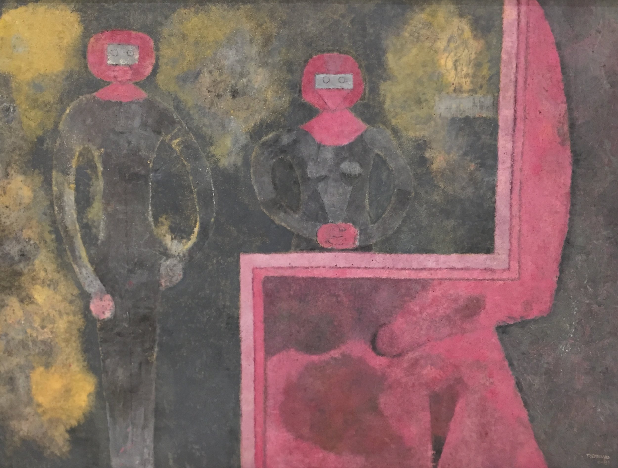 Rufino tamayo,  retrato conjugal , 1981.Oil on canvas, 95 x 130.1 cm. Collection: museo tamayo, mexico city. image:christopher squier. Image posted january 11, 2018.