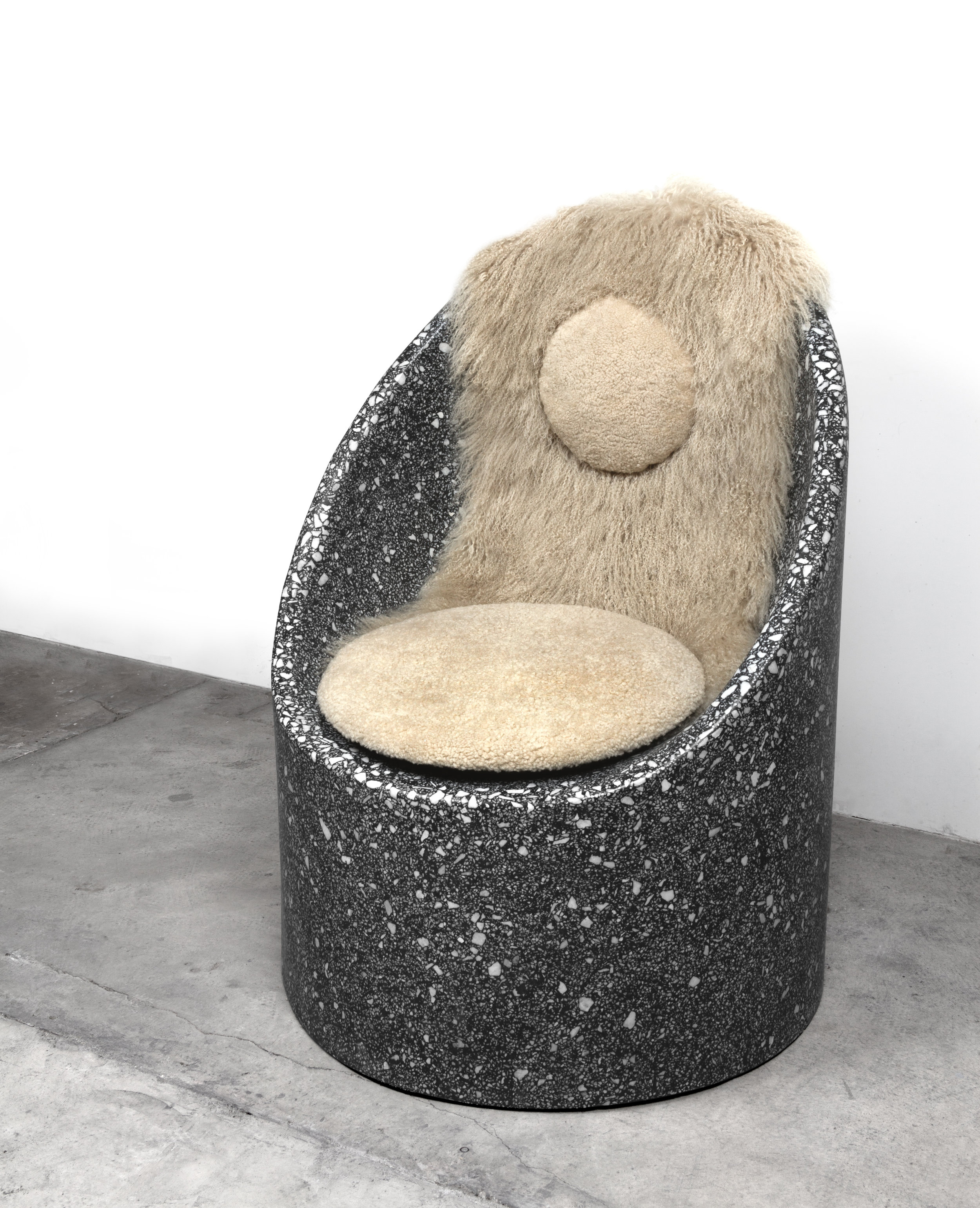 Cozy Cave Chair with Sheepskin