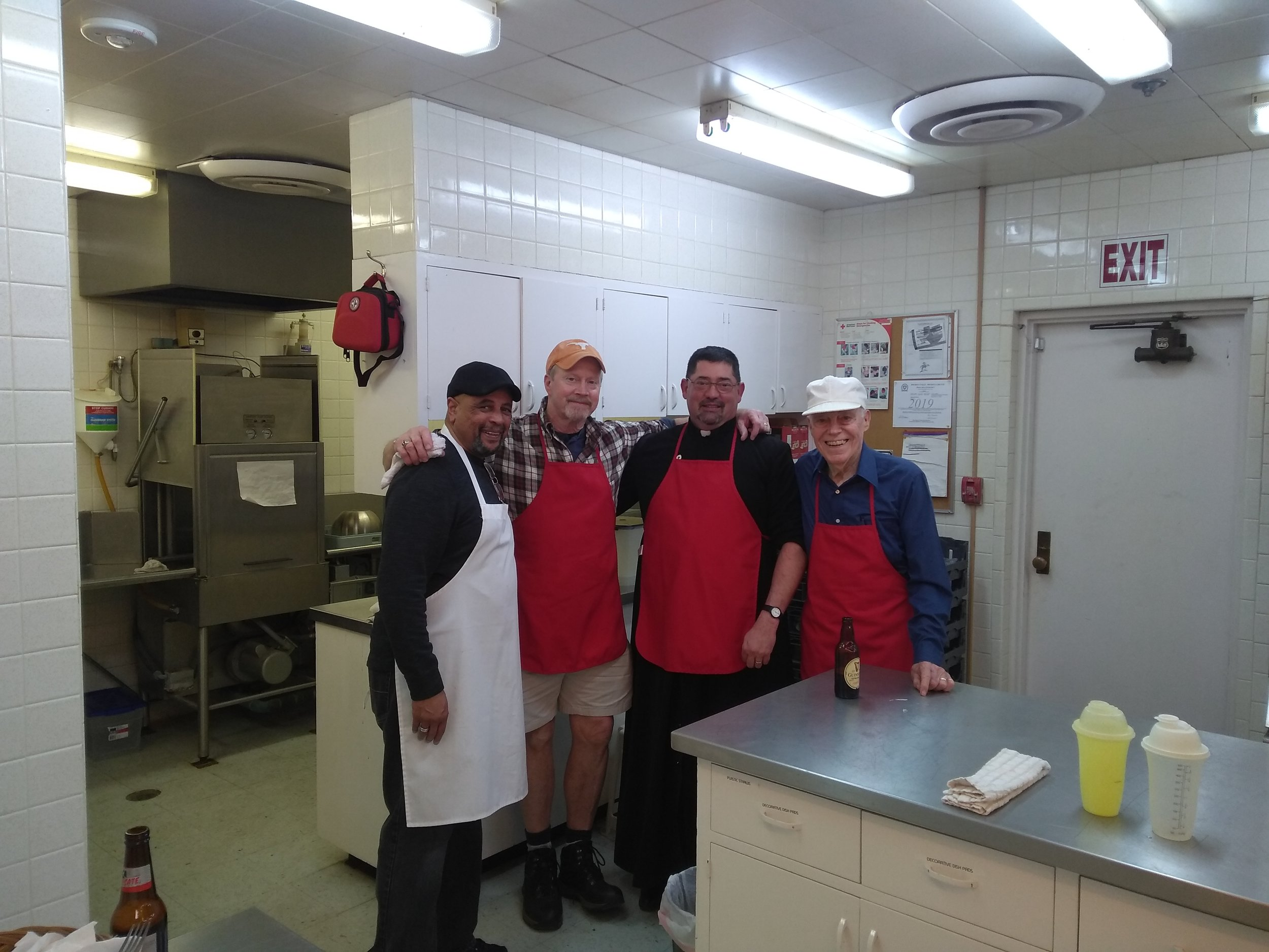 Thanks to the MOGS (Men of Good Shepherd) for cooking up the pancakes and sausage, serving, and clean-up.