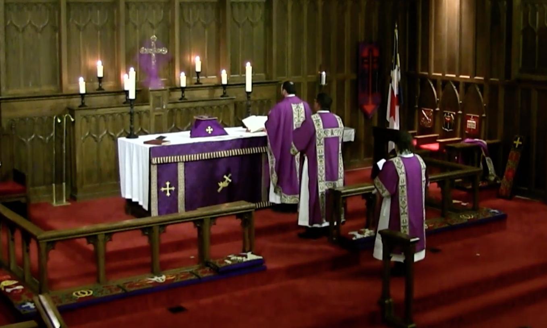 Ash Wednesday was Deacon Randy's first, full, Solemn Mass as a deacon.