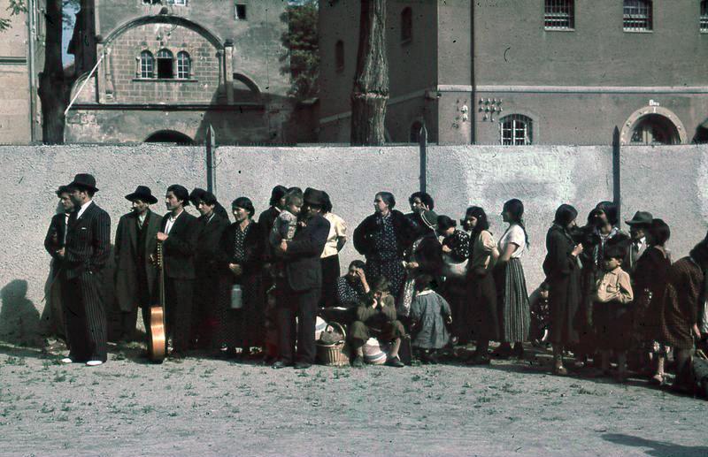 Deportation of Romani during Holocaust  Source:  https://commons.wikimedia.org/wiki/File:Bundesarchiv_R_165_Bild-244-48,_Asperg,_Deportation_von_Sinti_und_Roma.jpg