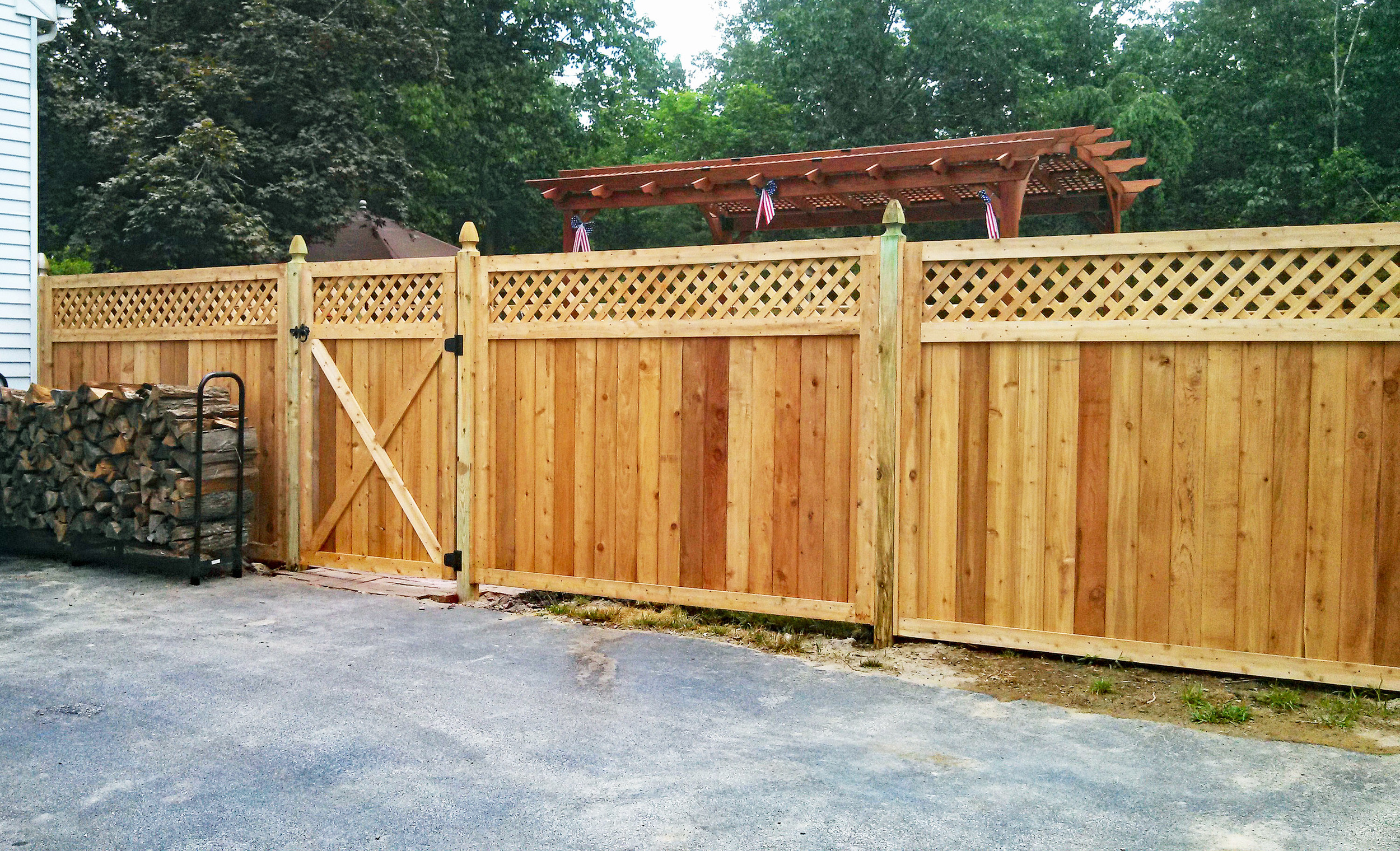 Pressure treated wood fencing New Jersey