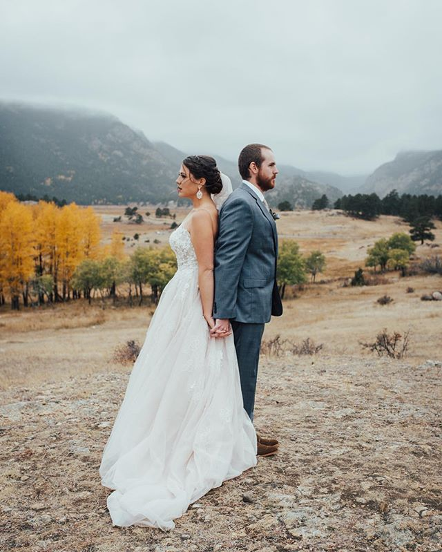 Because I got Nick & Katie's Christmas card in the mail today and it made me smile. Here's one of my favorites from their fall Rocky Mountain wedding. We ran around the park chasing fog and Aspens until we couldn't feel our fingers or toes. Worth it. 💛