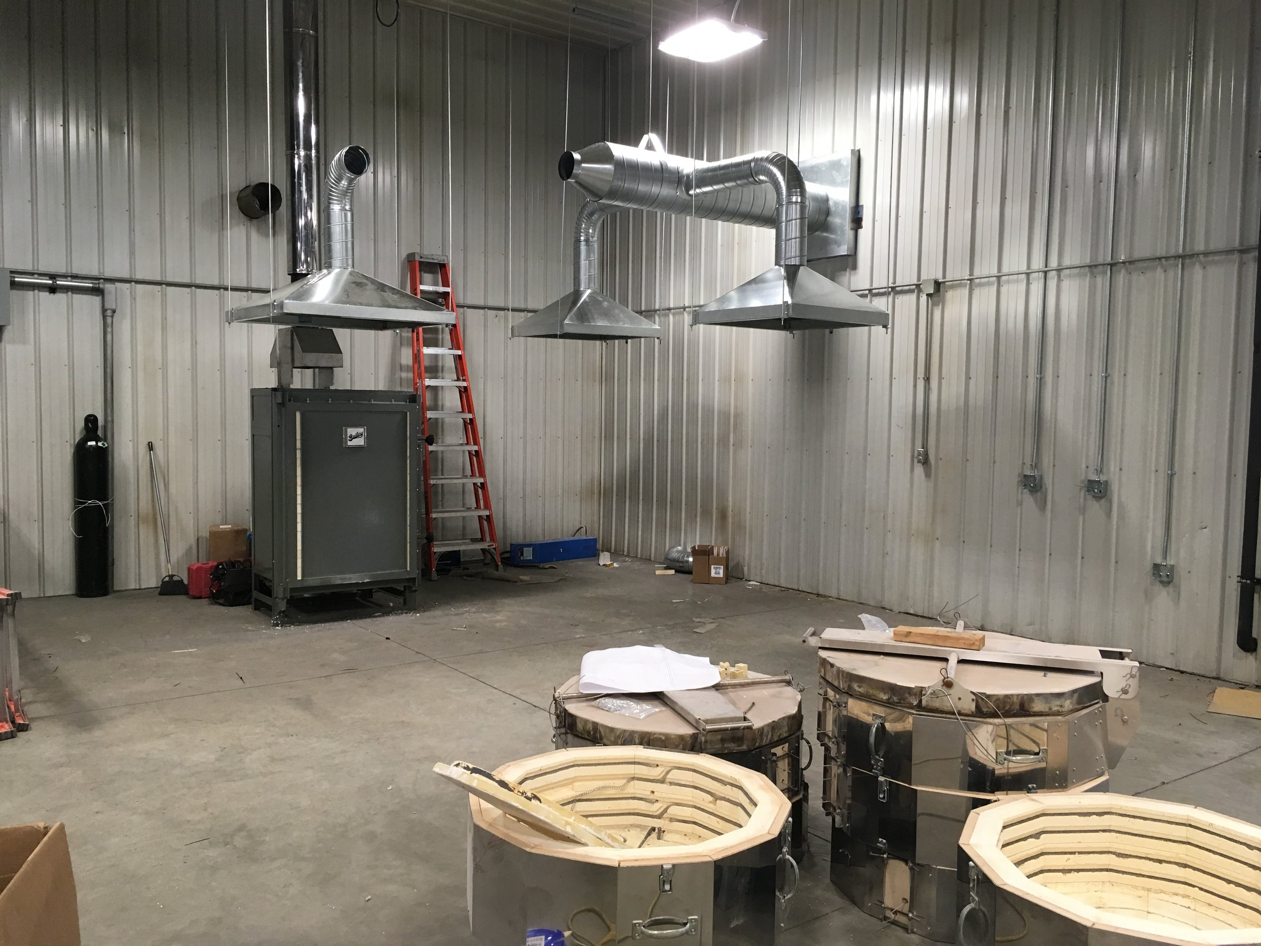 New UIU Art Studio coming together!