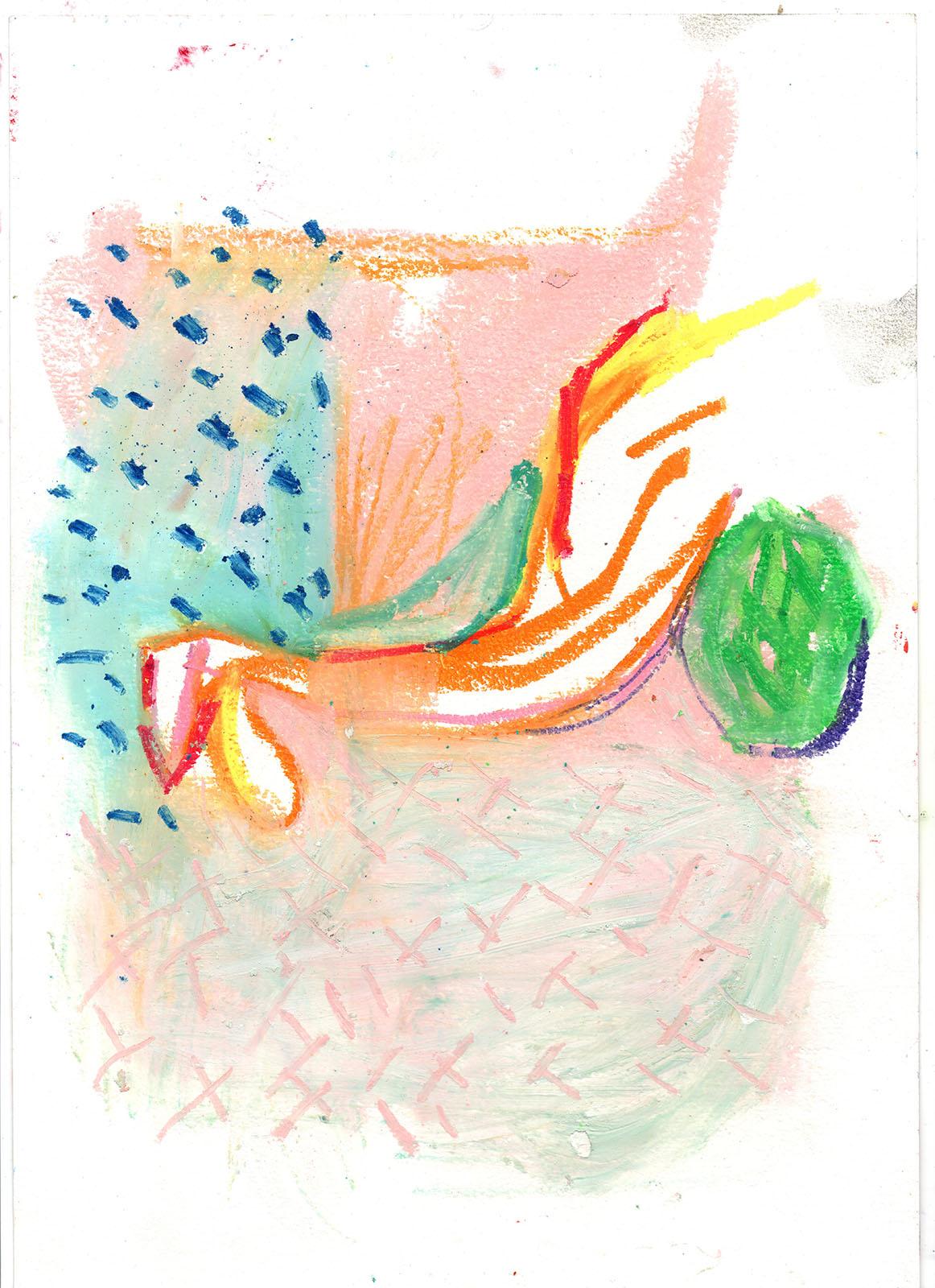 2018  pastel on cotton paper  A4