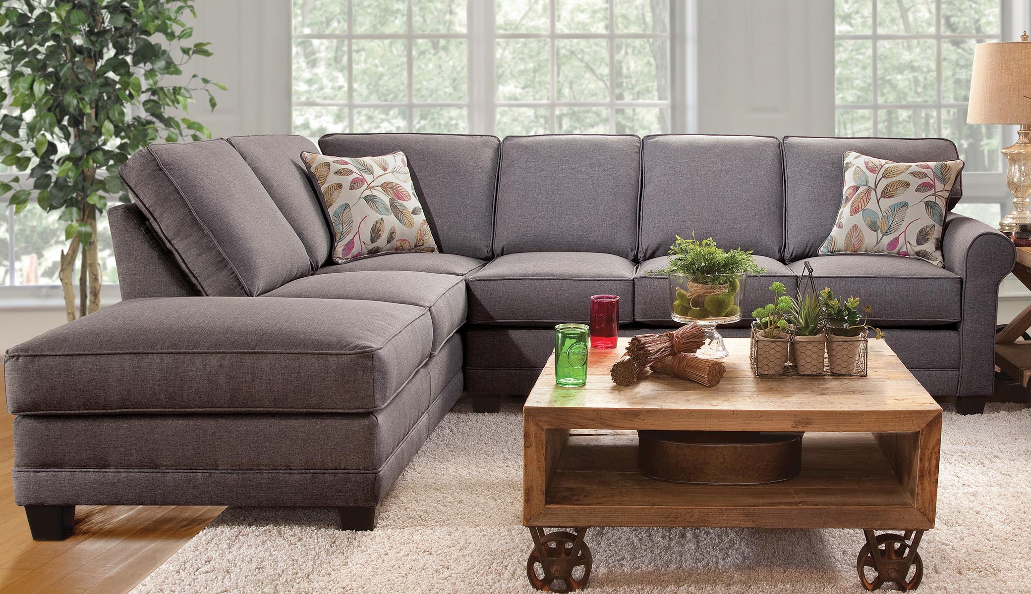Jitterbug Gray - Sectional - Serta Upholstery