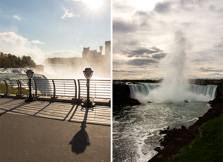 Niagara Falls, New York and Horseshoe Falls, Canada