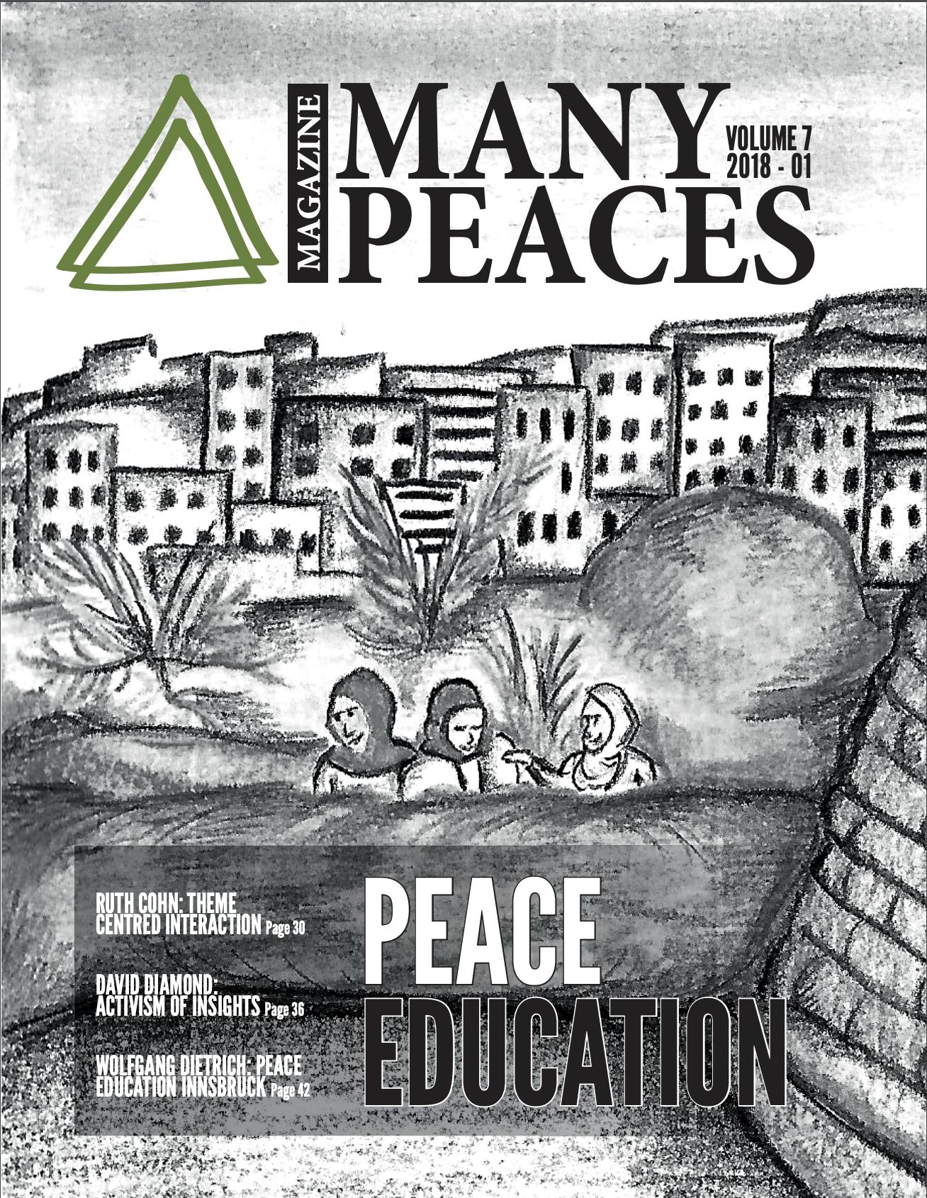 Revista académica europea de estudios de Paz de la UNESCO, Many Peaces. - El artículo se basa en las formas creativas de buscar alternativas a los conflictos violentos desde las expresiones de los jóvenes (experiencia tomada de los Talleres de foto debate, Montevideo-Uruguay).