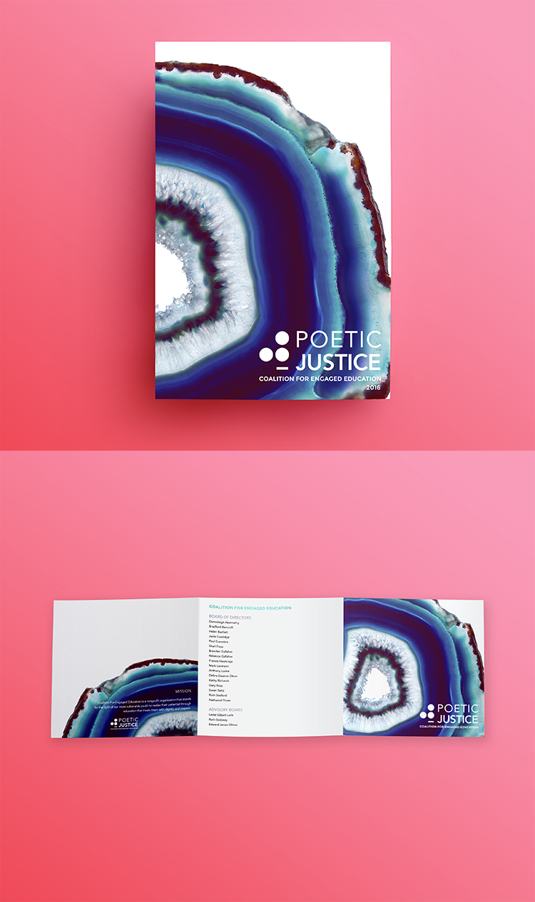 Coalition for Engaged Education  // Poetic Justice - Event Collateral