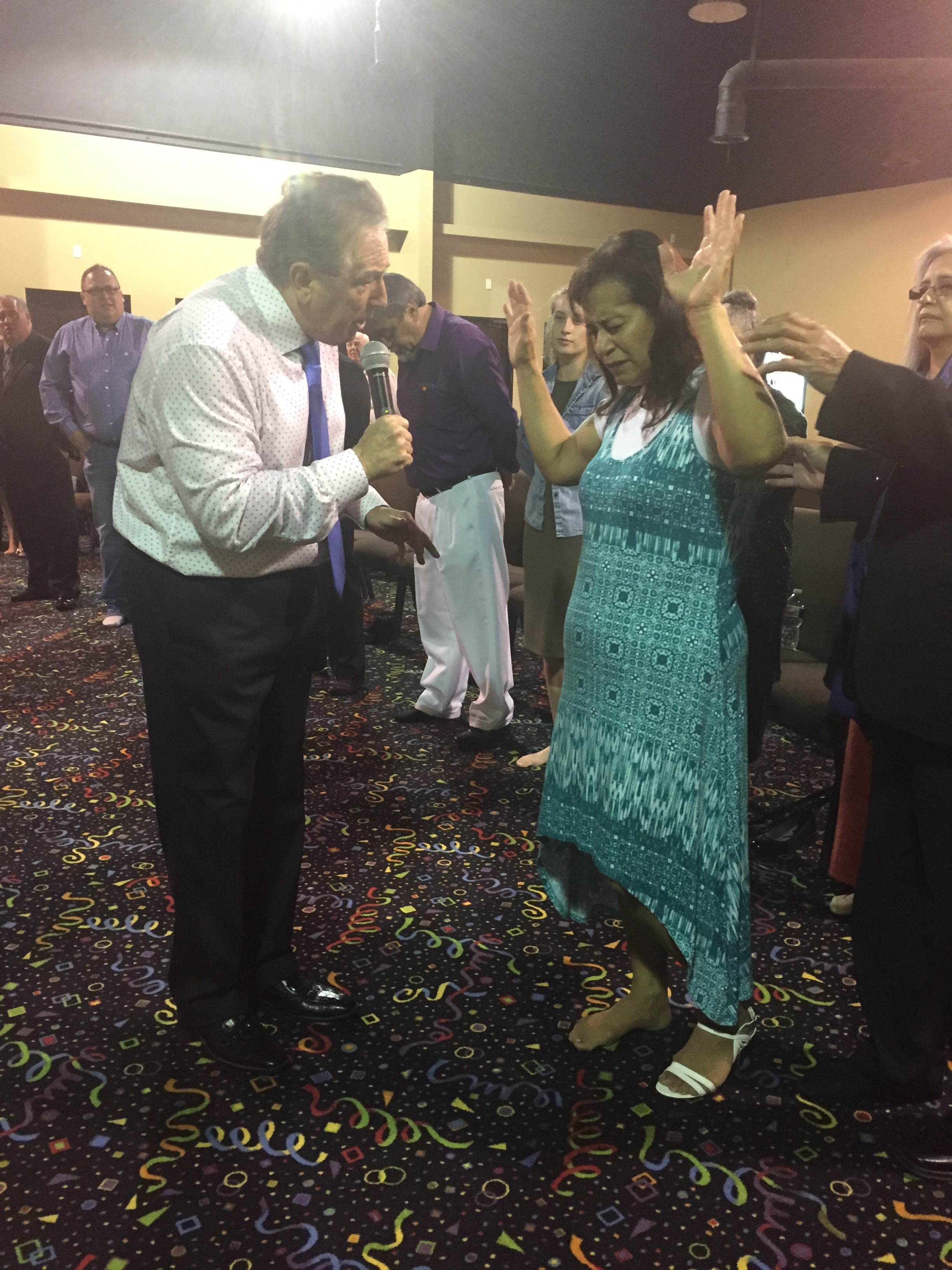 Red Oak, Texas; Anna being prayed for by Gordon Winslow