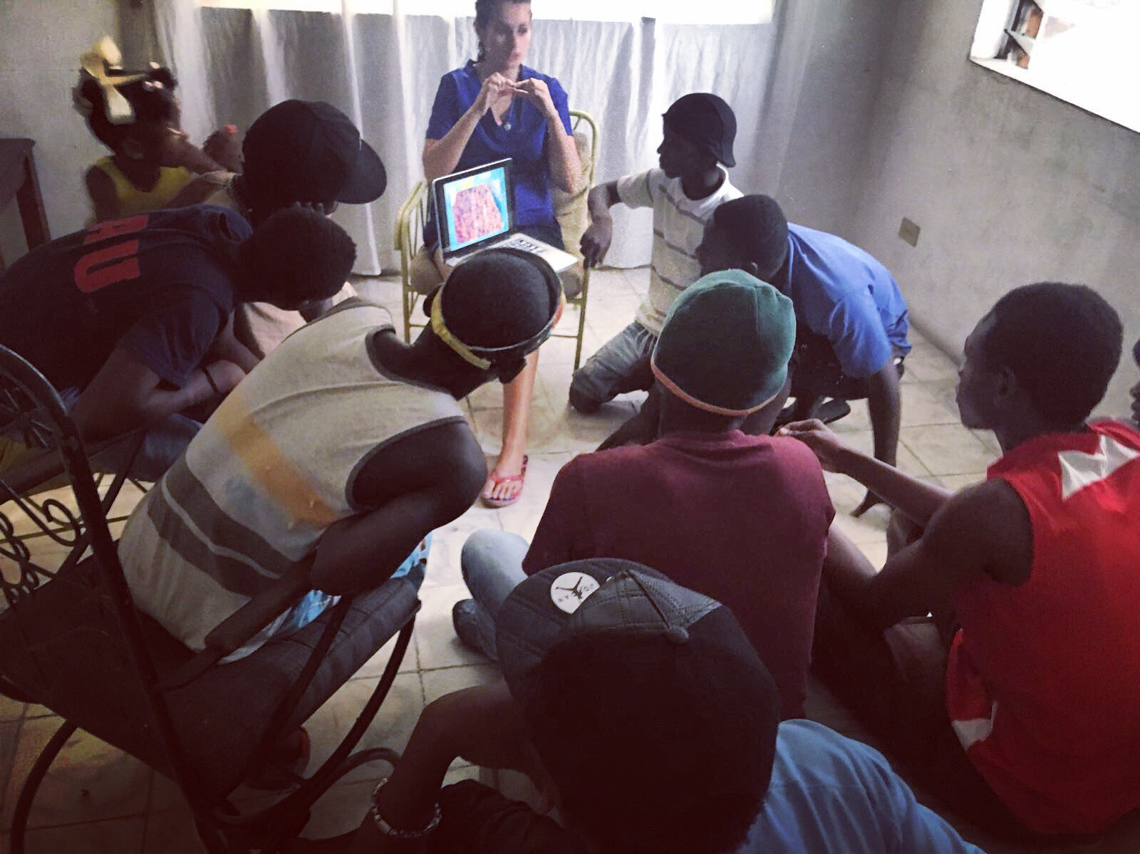 Registered Nurse, Alix Comeau held health and sexual education courses for students ages 12+ on Haiti Mama's campus. -