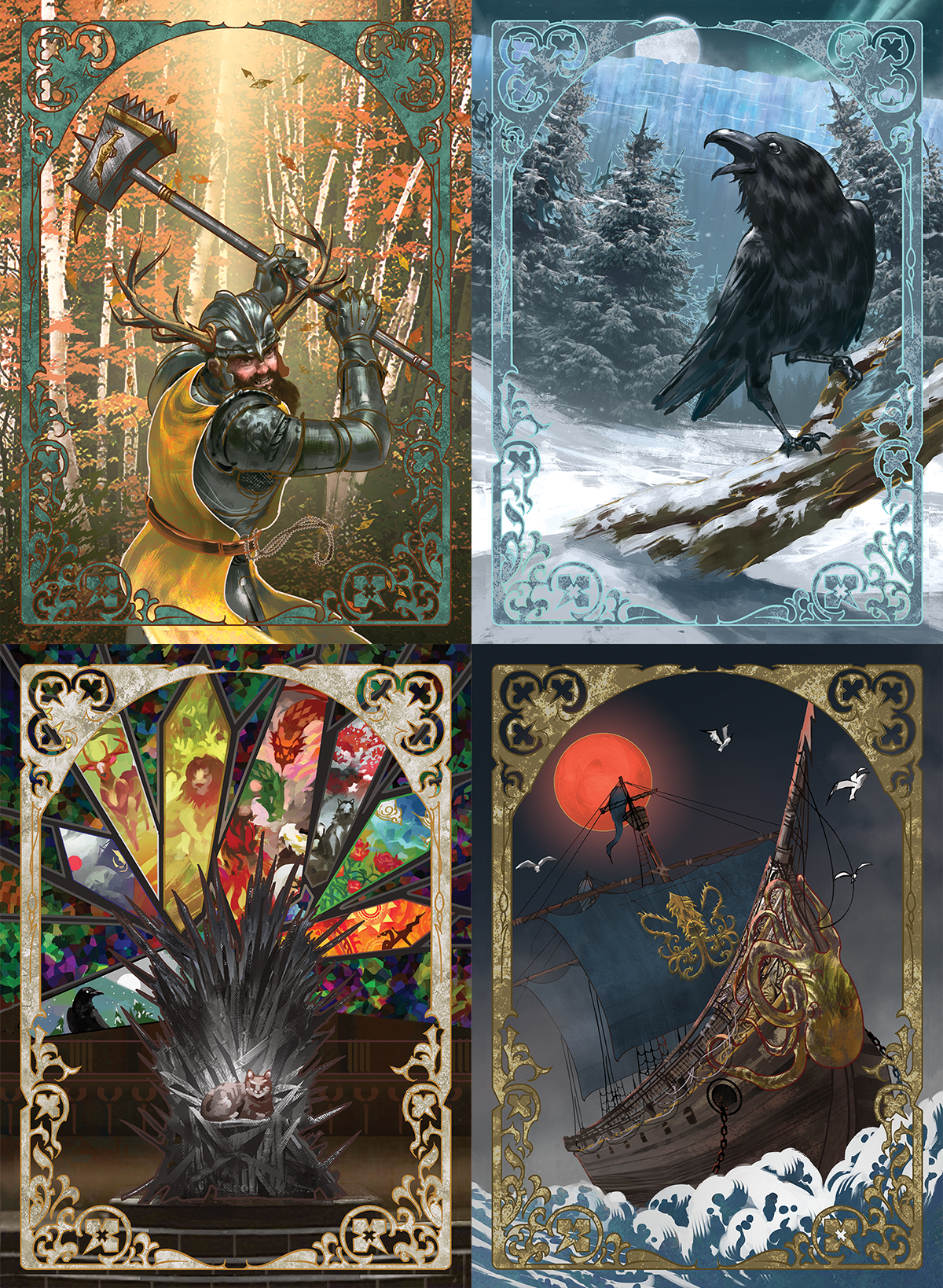Stylised Custom Game of Thrones LCG Card Backs