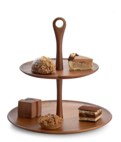Tiered Dessert Stand  If you eat with your eyes, why not make a statement? You could put an Oreo on this thing and it would look fancy schmancy! Just sayin.
