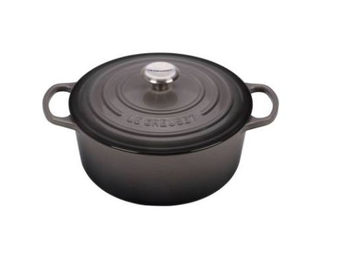 Le Creuset Dutch Oven I received this as a gift from a friend in blue and even when we're not using it, I love keeping it out on the stove cause it's so gorgeous. I make all of our homemade favorite recipes in this thing. From chowder to mashed potatoes and my Mom's Filipino adobo.