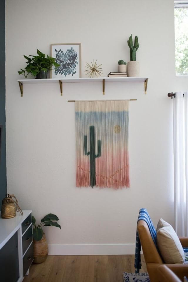 The Dancing Tapestry  -Dip Dyed Yarn Wall Hangings and Bohemian Tapestries