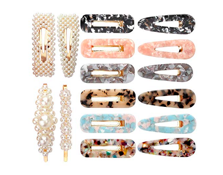 TORTOISE SHELL AND PEARL BARRETTES  (16 FOR $14)  If you're like me and love the barrette trend happening but not sure how to begin, these are perfect. I couldn't believe how affordable and adorable they are and even though I'm still not sure if I'm wearing them the right way, I know they look good!