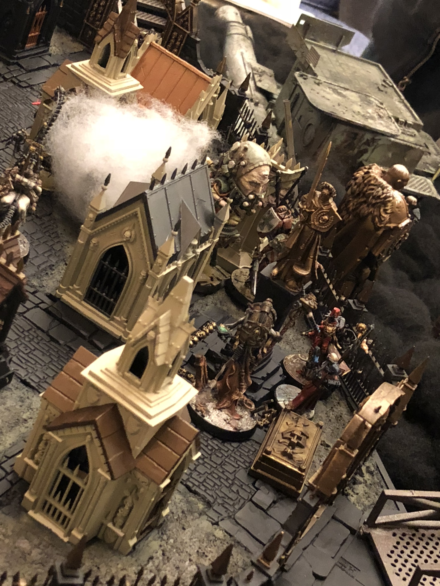 The fog of fear floats through the graves of the graveyard as R. Meade's Inquisitorial warband becomes familiar with a freshly exhumed corpse's hidden information.