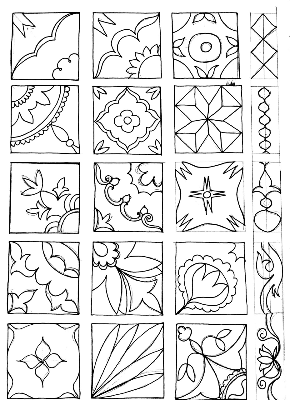Mosaics from Athangudi