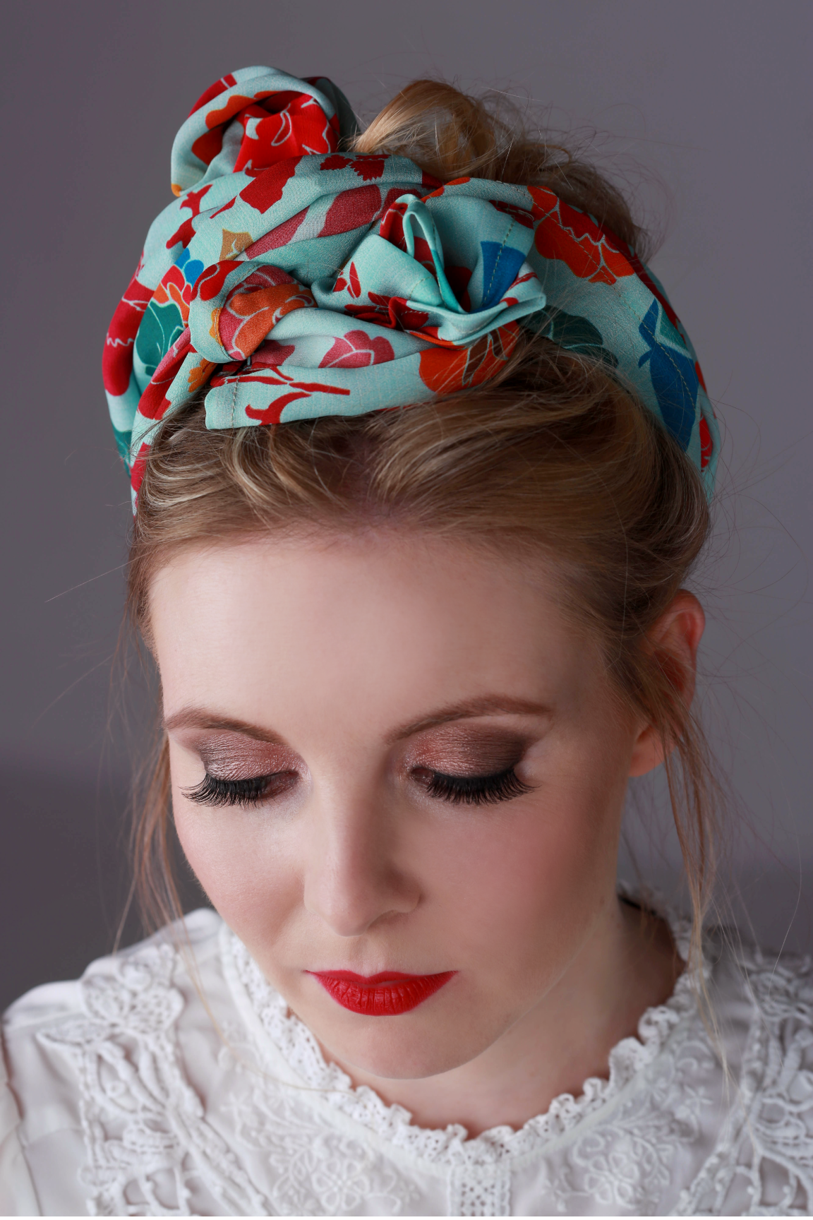 Katie Whale looks so beautiful in Blooming Blue from my signature collection.