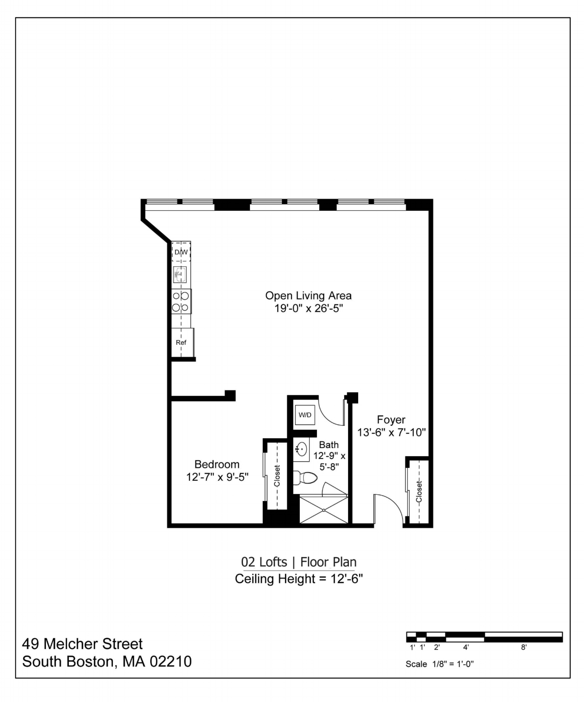 02 LOFT FLOOR PLAN - 867 SF | $2900-3250/MONTH